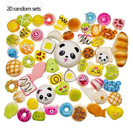 Amazon.com: Acoolstore 20Pcs/Pack Antistress Squishies Slow ...