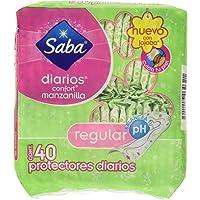 Saba Panti Protector Diario para Dama Confort Manzanilla, color Verde, 40 Piezas