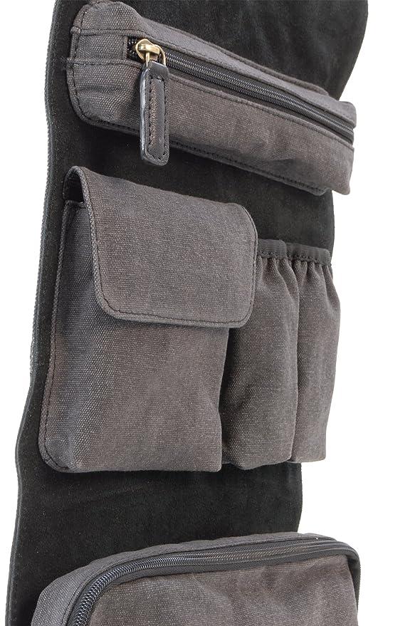 584ba50285 Ashwood Men s Hanging Wash Bag Shaving Bag Travel Gym Toiletry Bag -  Genuine Leather and Canvas - Hammersmith 7010 - Black  Amazon.co.uk  Luggage