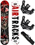 AIRTRACKS SNOWBOARD SET / AIR ANARCHY CARBON SNOWBOARD WIDE FLAT ROCKER + BINDING SAVAGE + SB BAG / 152 156 159 / cm