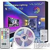 ViLSOM Led Strip Lights 16.4 Feet with 44Keys Remote and 12V Power Supply, Led Lights for Bedroom, TV, Room, Ceiling, Party,