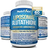 Nutrivein Liposomal Glutathione Setria® 700mg - 60 Capsules - Pure Reduced Glutathione - Master Antioxidant for Optimal Cell