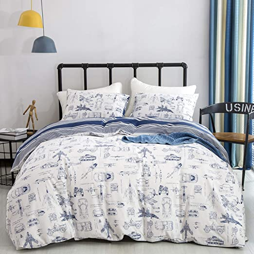 Quilt Cover Size Twin Comforter Cover Duvet Cover Rustic Old Train