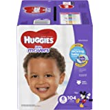 HUGGIES Little Movers Diapers, Size 6, For over 35 lbs., Box of 104 Baby Diapers for Active Babies, Packaging May Vary