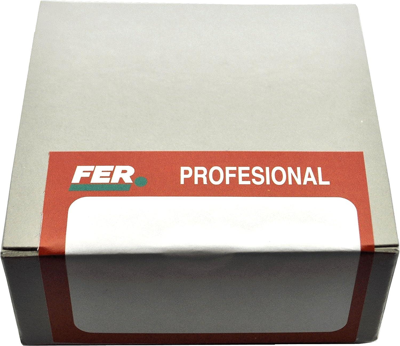 Set de 500 Piezas FER 58256 Caja Profesional Cart/ón Tornillo Rosca Chapa Cabeza Alomada 4,80x19 Zincado