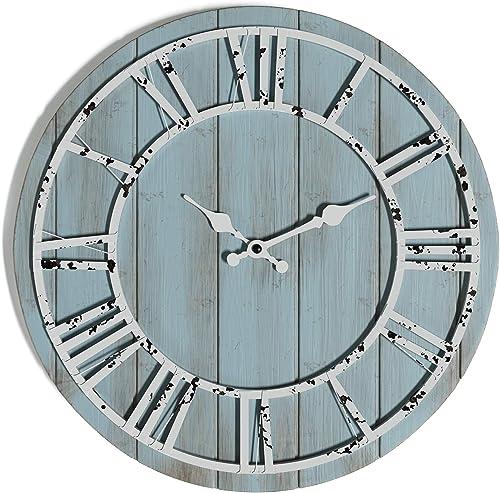 Barnyard Designs Large 18-inch Round Wooden Clock