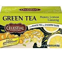 Celestial Seasonings Green Tea, Honey Lemon Ginseng, 20 Count