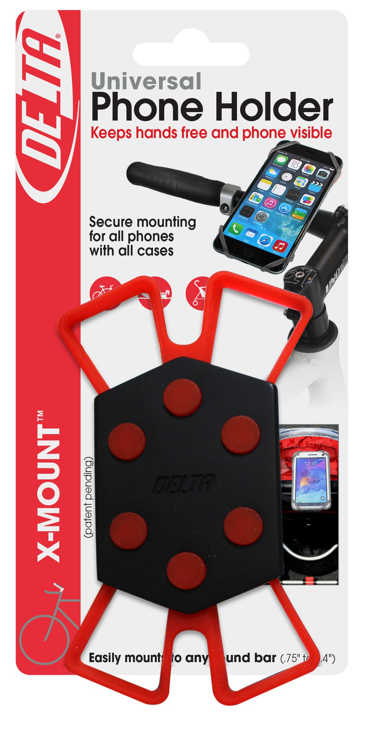 Delta Cycle x Mount Bike Phone Holder Caddy Case iPhone Samsung Android
