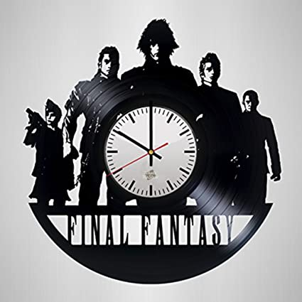 Final Fantasy Design Vinyl Record Wall Clock   Wonderful Living Room Or  Play Room Wall Art