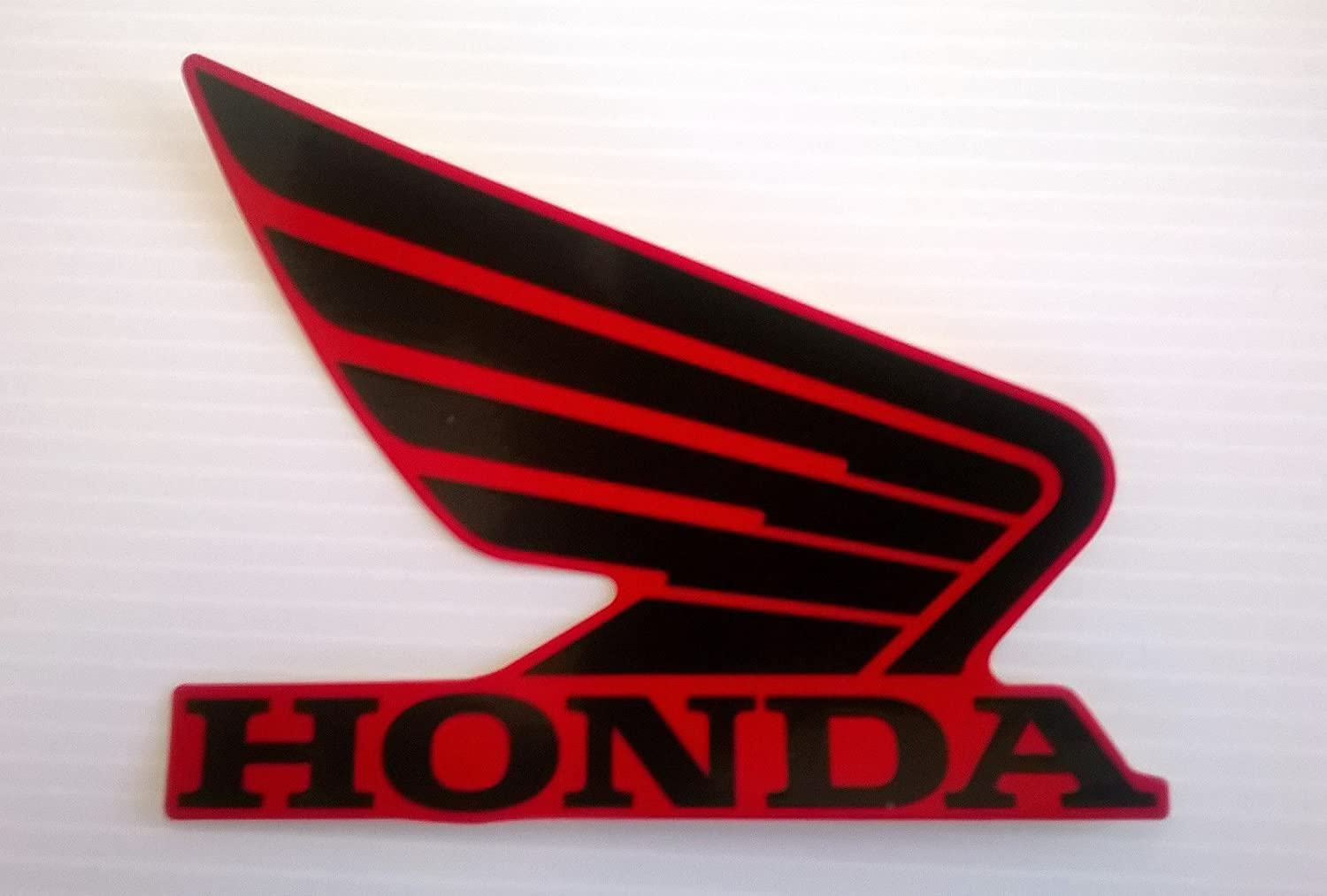 Honda 86201-K26-A00ZB Honda Wings Fuel Tank Gas Tank Stickers Decals 2 X 85MM Black Red Left /& Right Genuine 86201-K26-A00ZB