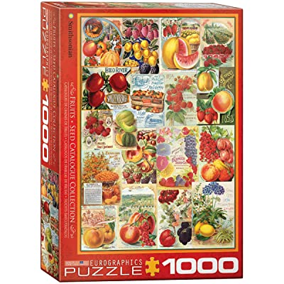 EuroGraphics Fruits Smithsonian Seed Catalogues (1000 Piece) Puzzle: Toys & Games