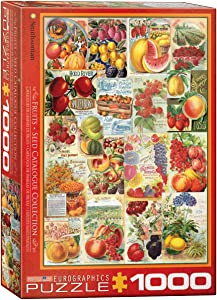 EuroGraphics Fruits Smithsonian Seed Catalogues (1000 Piece) Puzzle (6000-0818)