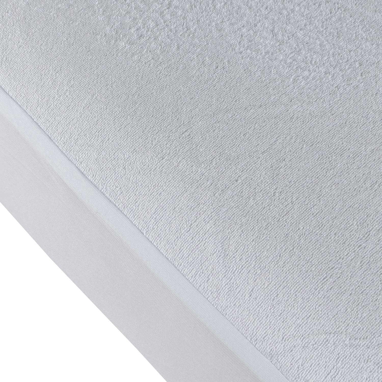 Homescapes Frottee Matratzenschoner 90 x 190 cm wasserabweisend Matratzenschutz ideal bei Inkontinenz und f/ür Kleinkinder auch f/ür Allergiker geeignet