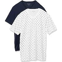 Amazon Essentials paquete de 2 camisetas de cuello en V ajustadas para hombre