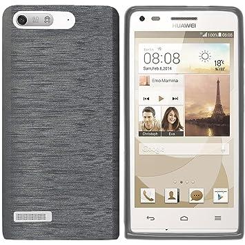 elecdorith TPU Suave Case Brushed Silicona Carcasa para Huawei Ascend P7 mini , Huawei Ascend G6 , gris