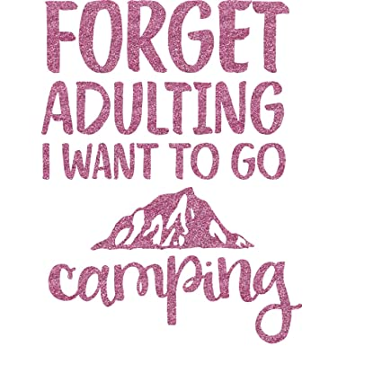 Amazon Com Camping Quotes Sayings Shape Glitter Sticker Decal