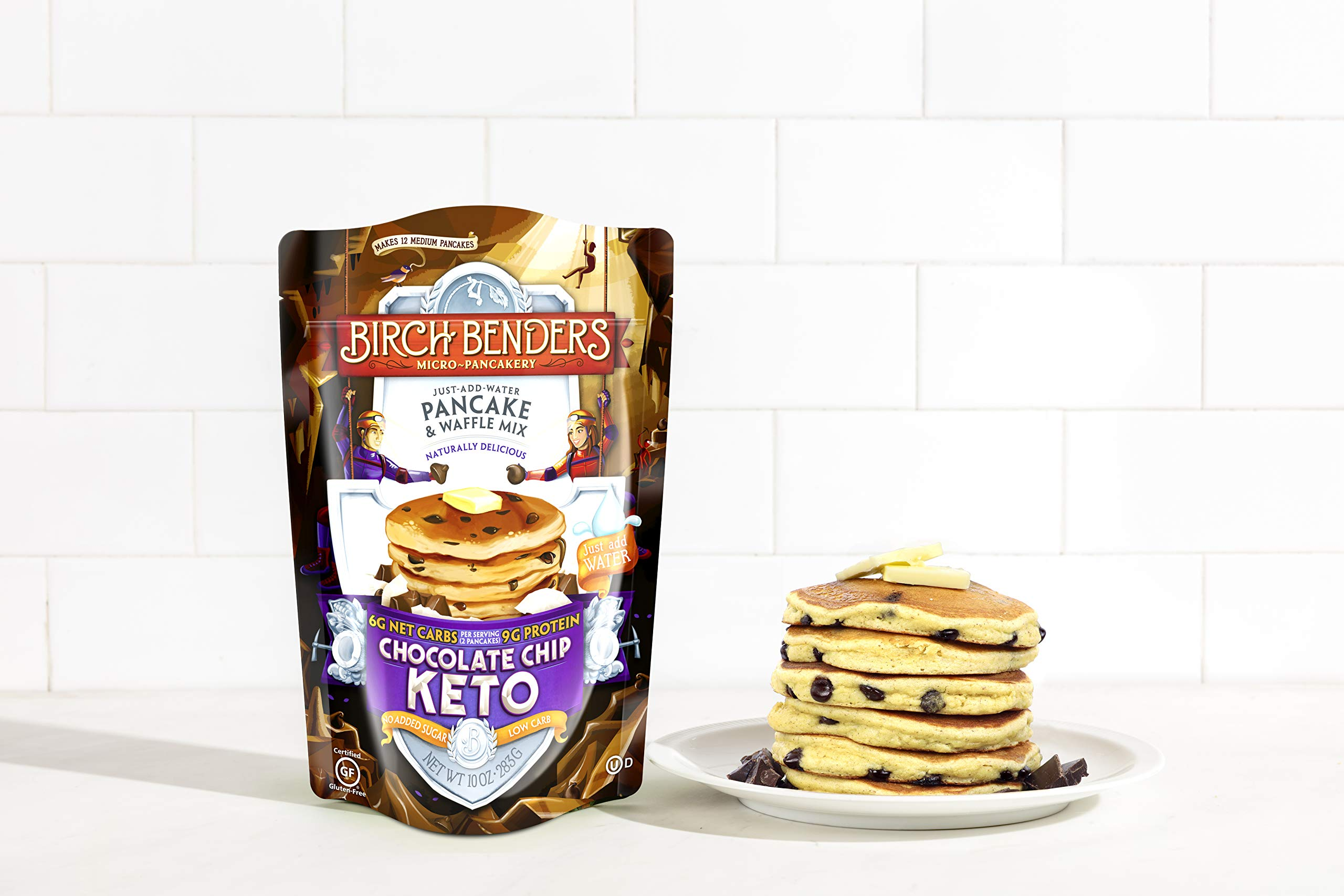 Birch Benders Keto Chocolate Chip Pancake & Waffle Mix with Almond/Coconut & Cassava Flour, 6 Count by Birch Benders (Image #4)