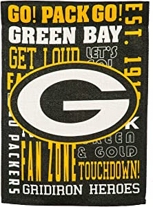 Team Sports America Green Bay Packers Fan Rules 12.5 x 18 Inches Garden Flag