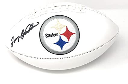 d14c3ac45 Image Unavailable. Image not available for. Color: Terry Bradshaw  Pittsburgh Steelers Signed Autograph Embroidered Logo Football ...