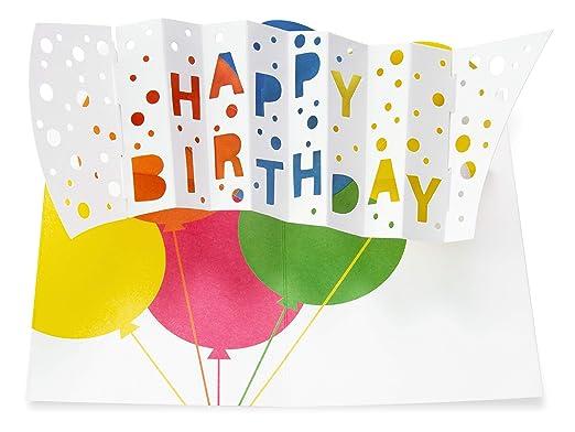 MOMA - Tarjeta Pop-up con Texto Happy Birthday (cumpleaños o ...