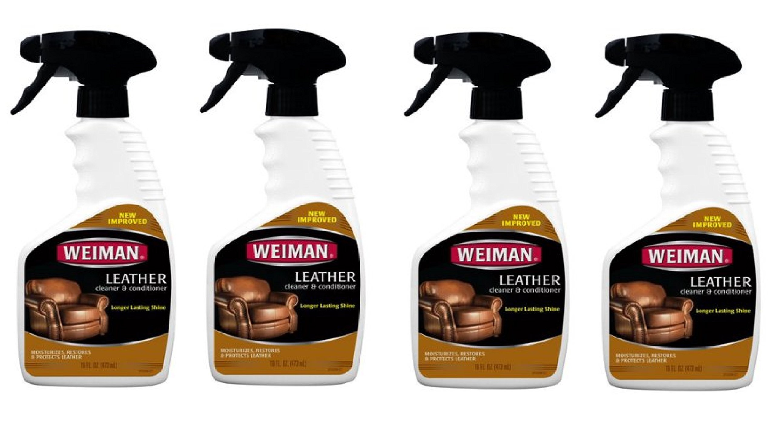 Weiman Leather Cleaner & Conditioner (16 fl oz - 4 Pack)