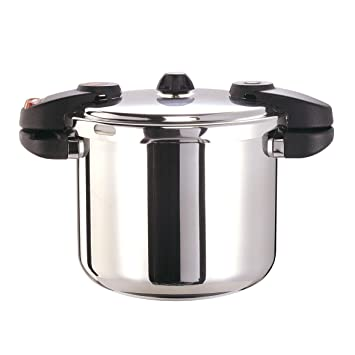 Buffalo QCP408 8 Quart Stainless Steel Pressure Cooker Classic Series
