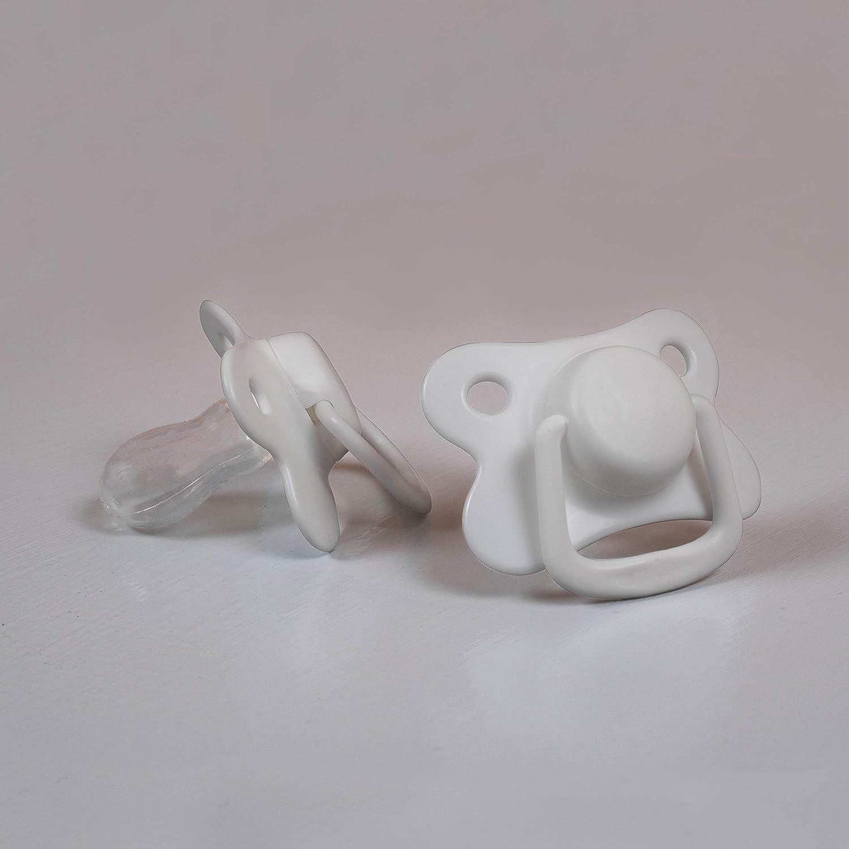 White, 0-6 Monate Schnuller aus Silikon in sch/önen matten Farben Symmetrische Form 2 St/ück Filibabba/® Schnuller 2er Pack D/änisches Design