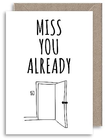 Lustige Abschiedskarte Freundschaftskarte Aufschrift Miss You