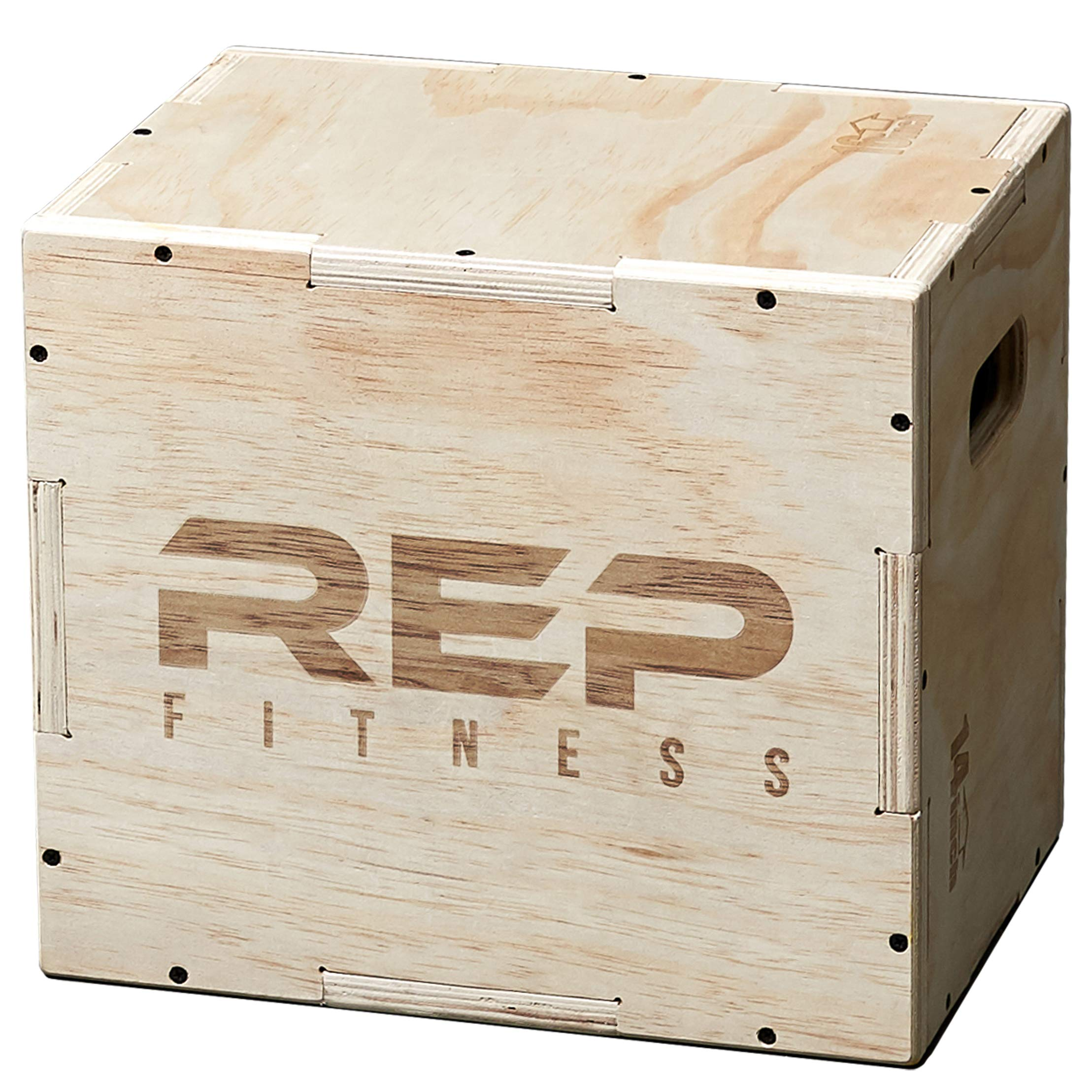 Rep 3 in 1 Wood Plyometric Box for Jump Training and Conditioning 16/14/12 by REP FITNESS