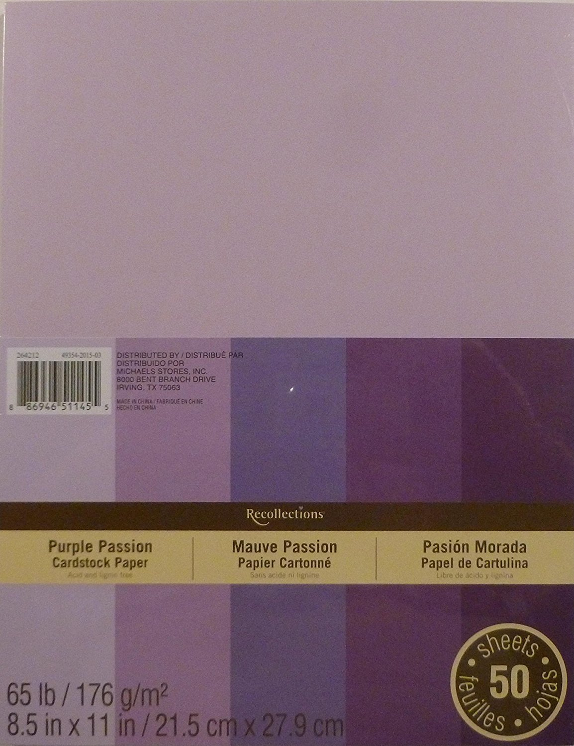 Multi color cardstock paper - Amazon Com Recollections Cardstock Paper 8 1 2 X 11 Purple Passion Arts Crafts Sewing