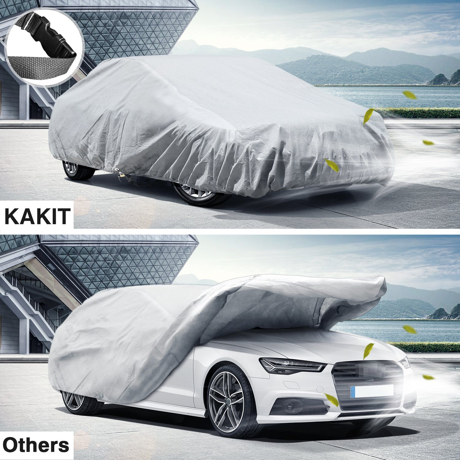 2 Layers UV Protection Universal Sedan Car Covers with ...