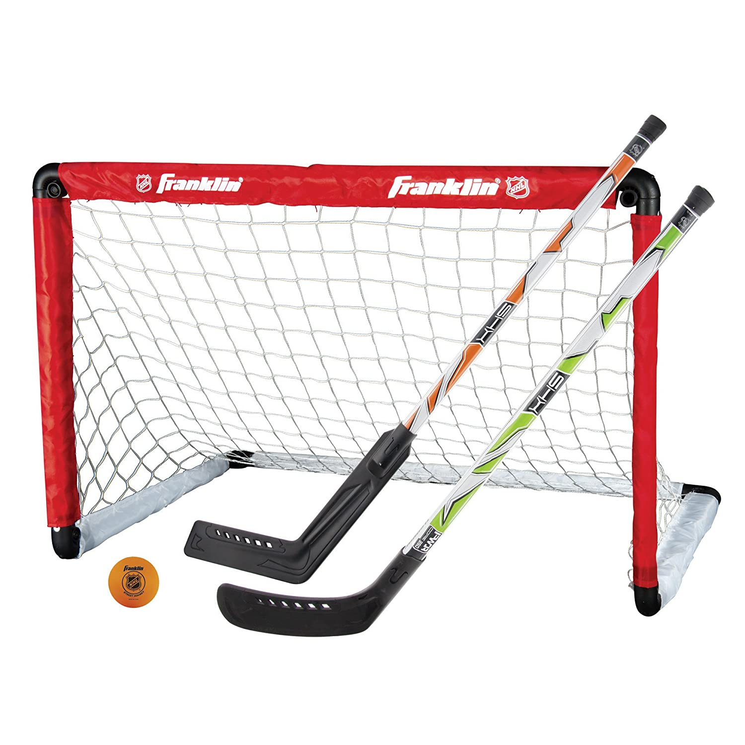 amazon com franklin sports nhl goal and 2 stick set sports