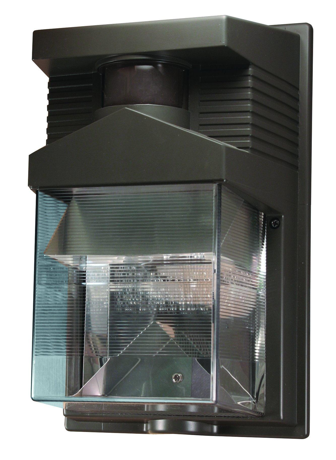Heath Zenith HZ-5630-BZ 180-Degree Halogen Motion-Sensing Security Light, Bronze