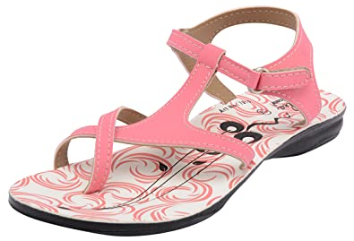 392af574a821 Solea Women s Pink and White PU Slingback Sandals - 8 UK  Buy Online ...