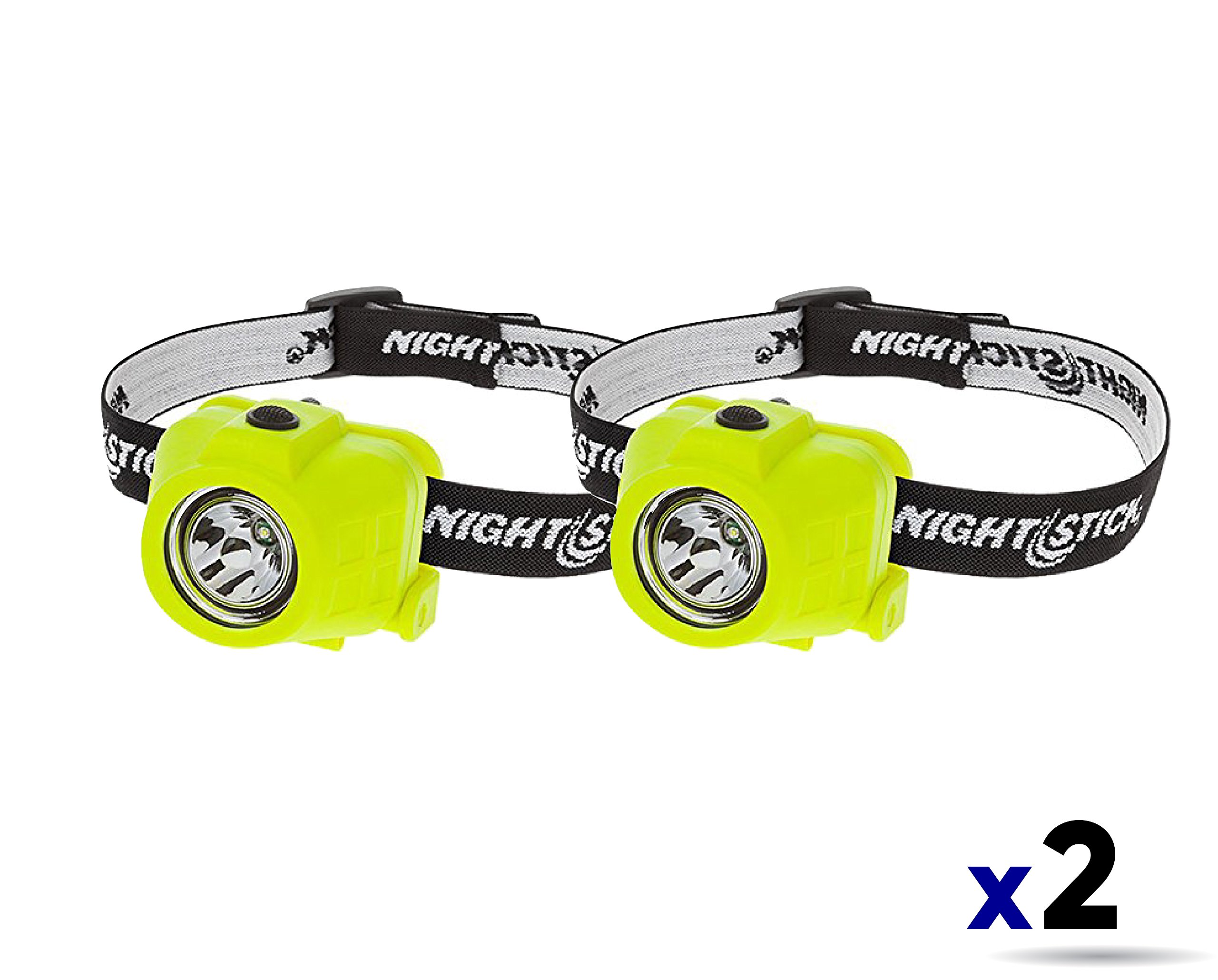 Nightstick XPP-5450G Intrinsically Safe Permissible Dual-Function Headlamp Color Green (2 Pack)
