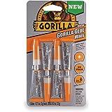 Gorilla Clear Glue Minis, Four 3 gram Tubes, Clear, (Pack of 1)