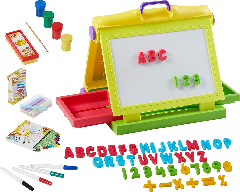 Unbekannt Kinder Malset 87 Teile Maltafel Magnettafel Kindermaltafel Buchstaben ABC Magnet Sambro Kinderspielzeug