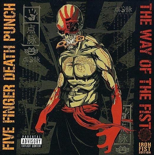 Five Finger Death Punch Herren Strickm/ütze Schwarz Schwarz