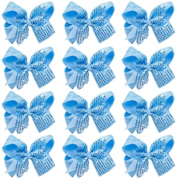 ScarvesMe 12pc Boutique Baby Girls Teens Women 4.5 Inch Solid Hair Bows