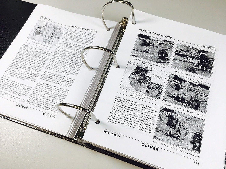Oliver 770 880 Tractor Service Repair Manual Parts Wiring Diagram Catalog Shop Book Ovhl Set Garden Outdoor
