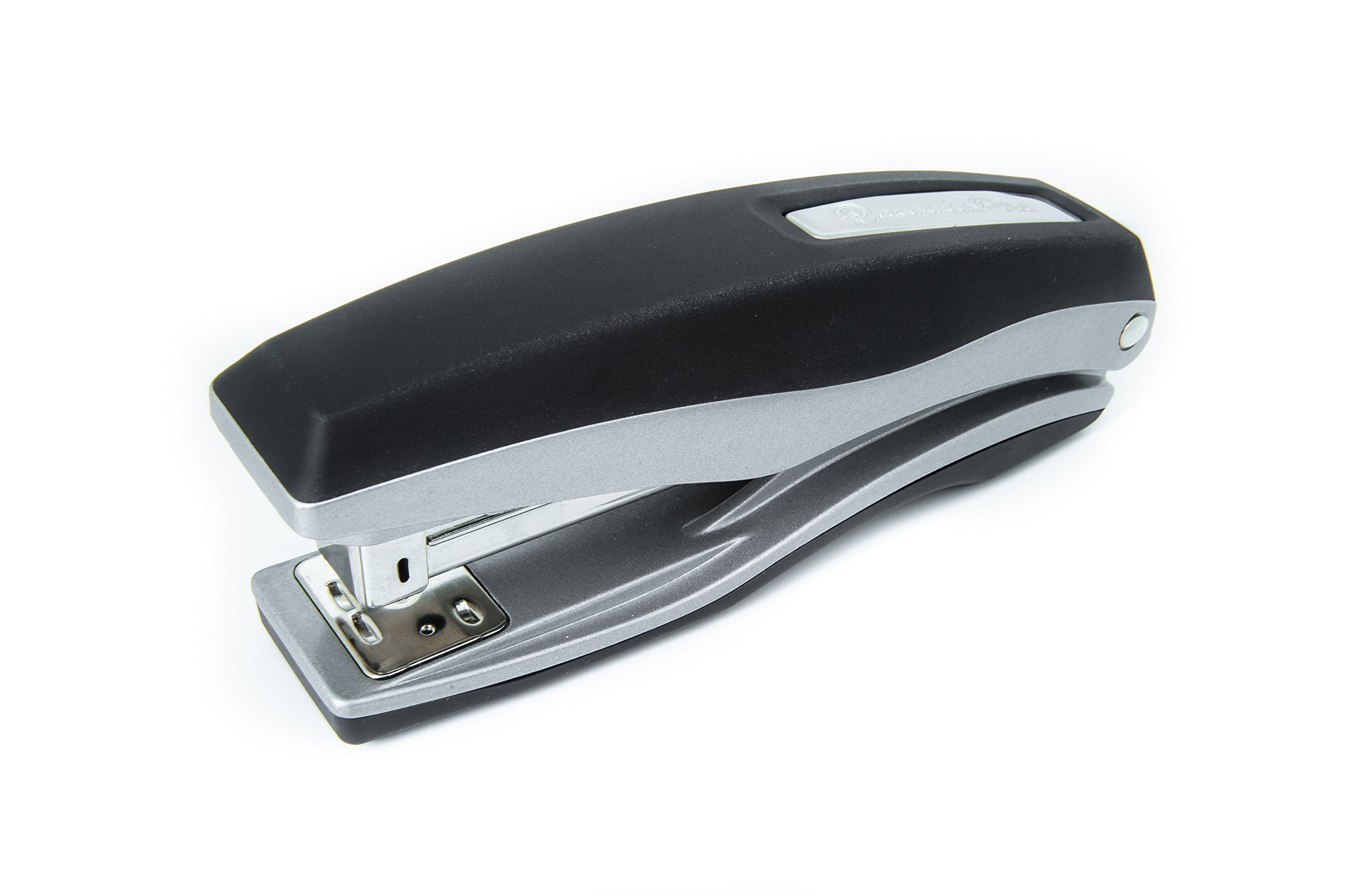 PraxxisPro Basileus Heavy Duty Metal Stapler Value Pack with 25 Sheet Capacity - Includes Staples and Staple Remover - Jam Free Stapler Set for Professional and Home Office Use (Silver)