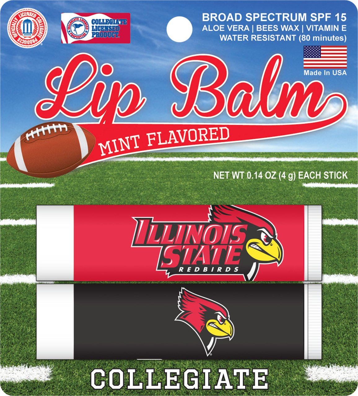 Illinois State Redbirds 2 Pack Lip Balm - Red Precious Nature Todays Special Mask (For Colored Hair) 7.05oz