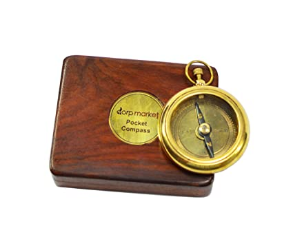 Buy Vintage Antique Maritime Brass Nautical Compass With Anchor