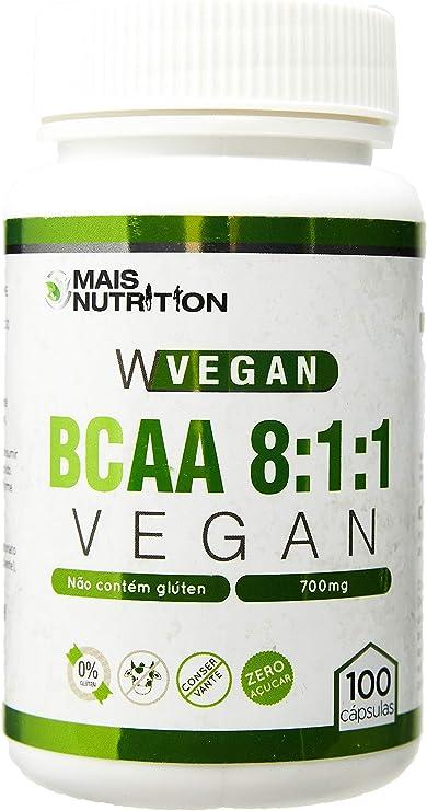 Mais Nutrition BCAA Vegan 8:1:1 800mg 100 capsulas
