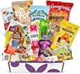 Healthy Vegan Snacks Care Package: Mix of Vegan Cookies, Protein Bars, Chips, Vegan Jerky, Fruit & Nut Snacks, Great Gift Baskets