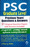PSC - Graduate Level Previous year Question paper and Answers Exam Book