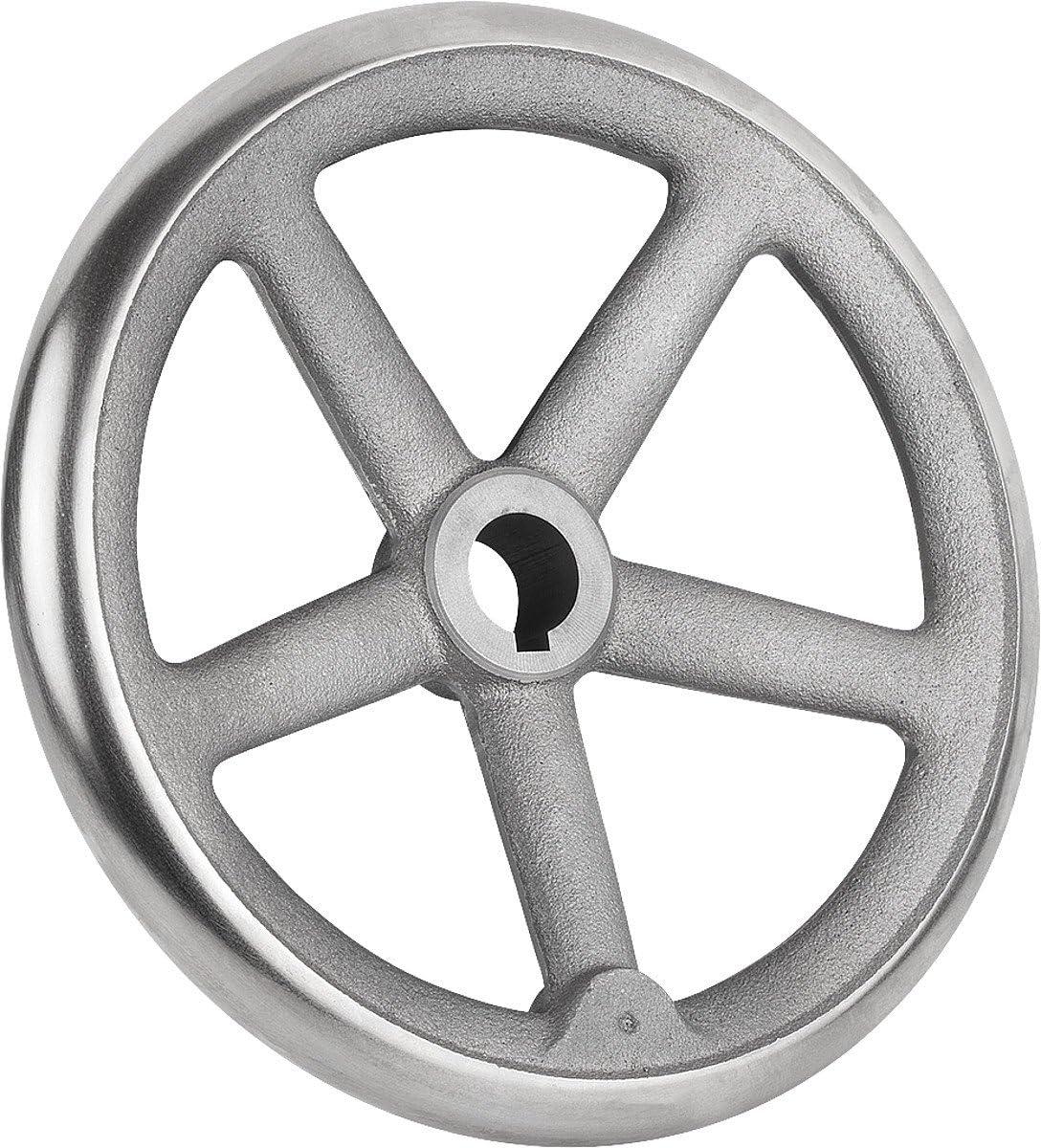 /40/cm Tilt Hand Cast Iron Wheel with Nut Without Handle Complete: Steel D2/ D1/= 500/ k0671.1500x40 W