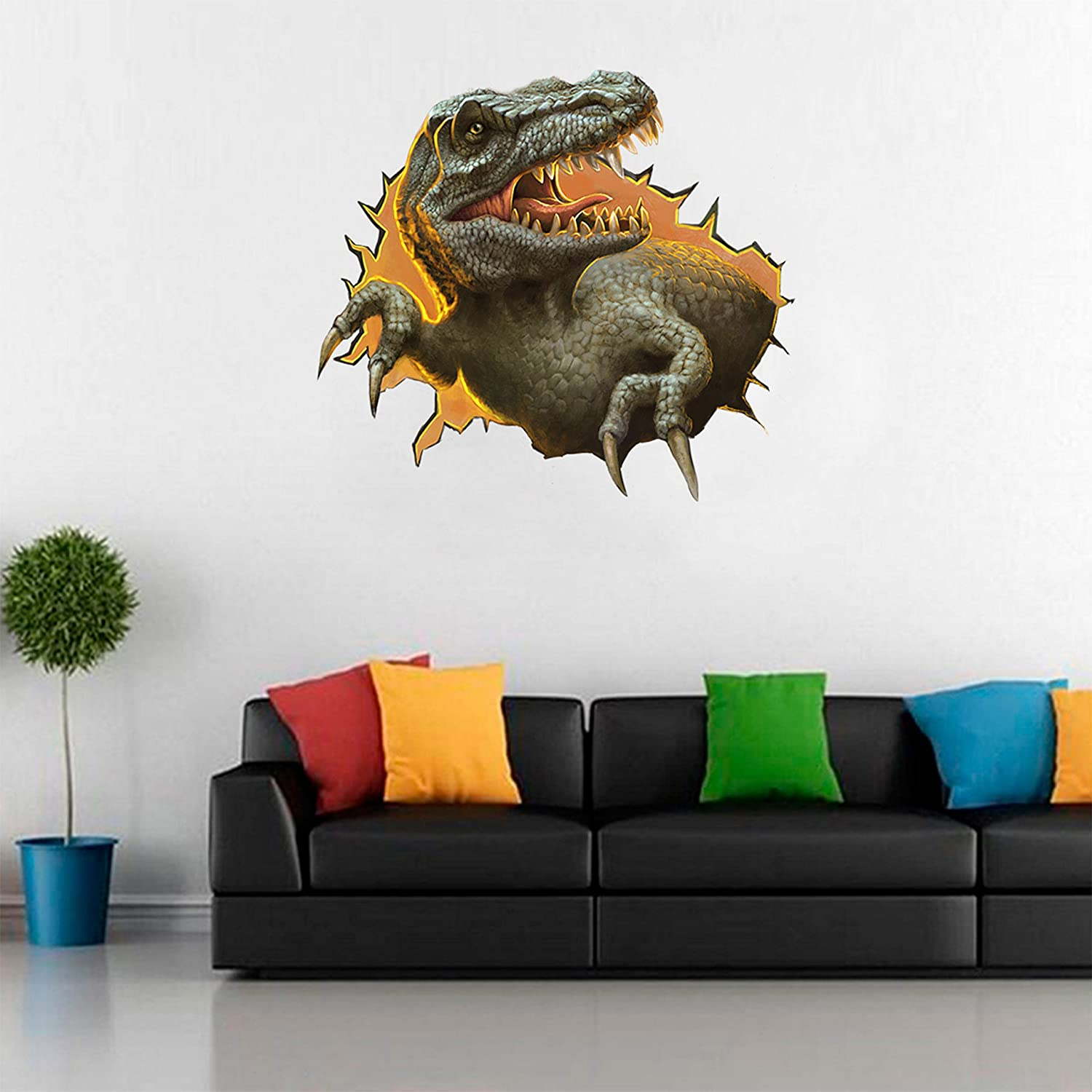 Peel /& Stick T-Rex Wall Sticker Dinosaur Wall Decals for Boys Room 3ftx3ft Shanghai Youte Banner Print