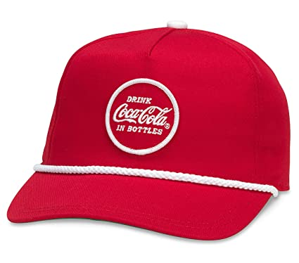 a66b240ae98ff Image Unavailable. Image not available for. Color  American Needle Coca  Cola Cappy Adjustable Snapback Hat - Red
