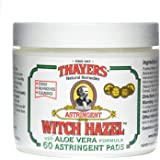 Thayers Original Witch Hazel Astringent Pads With Aloe Vera Formula - 60 Ct